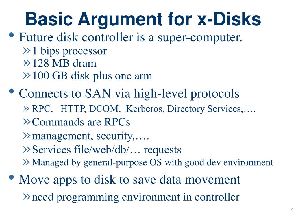 Basic Argument for x-Disks