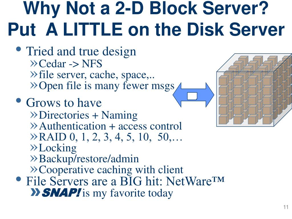 Why Not a 2-D Block Server?