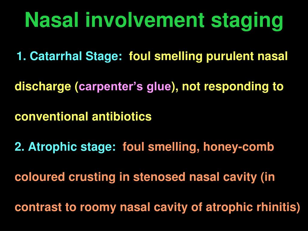 Nasal involvement staging