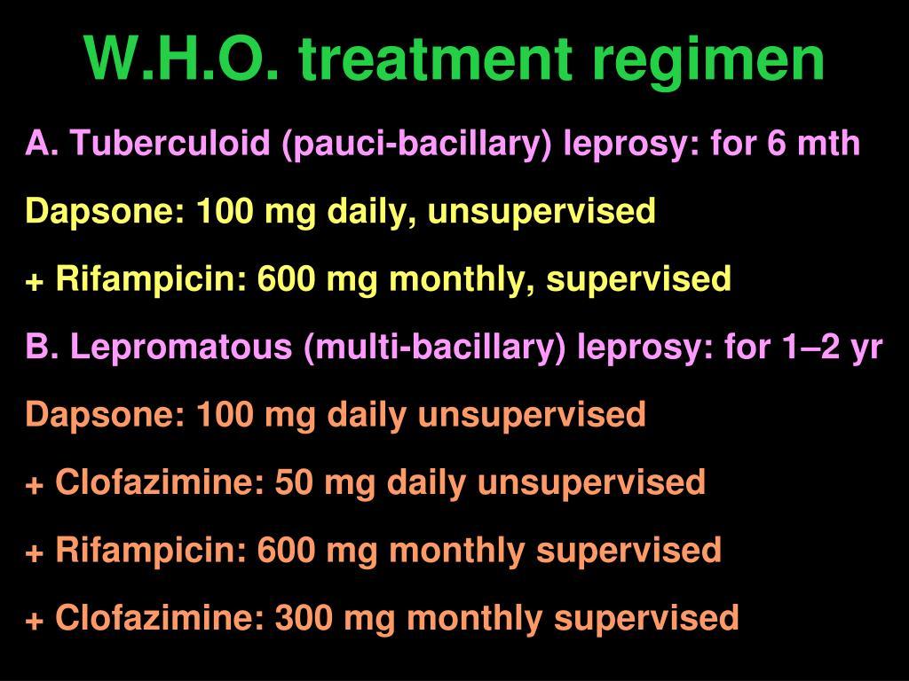 W.H.O. treatment regimen
