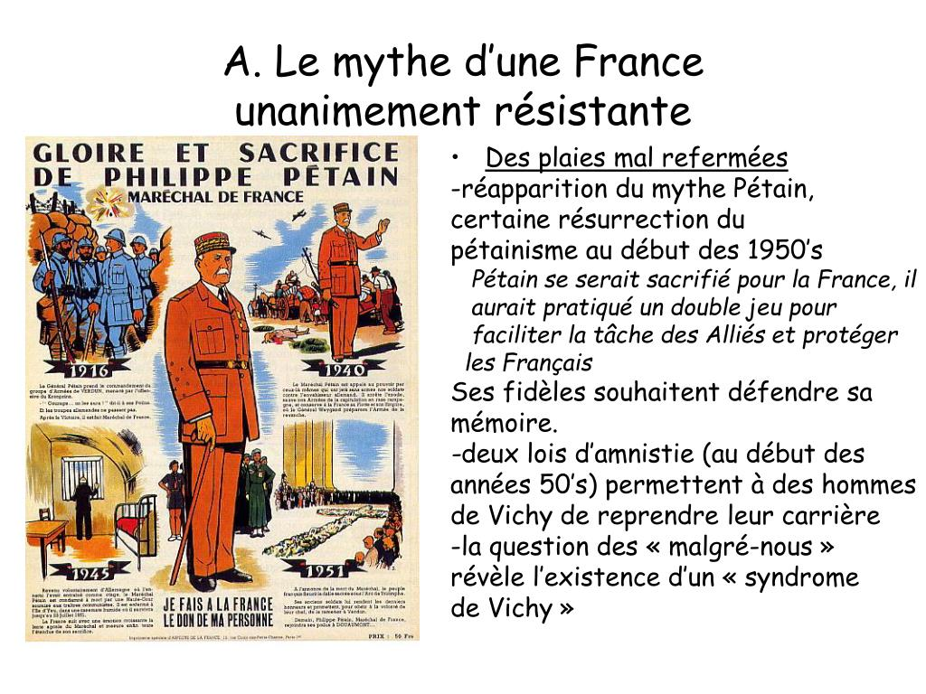 A. Le mythe d'une France