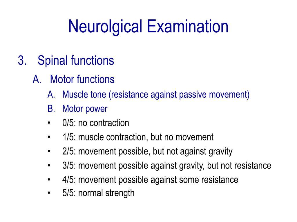 Neurolgical Examination