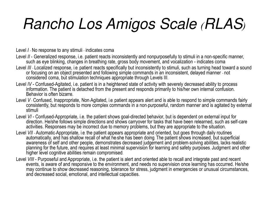 Rancho Los Amigos Scale