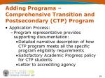 adding programs comprehensive transition and postsecondary ctp program39