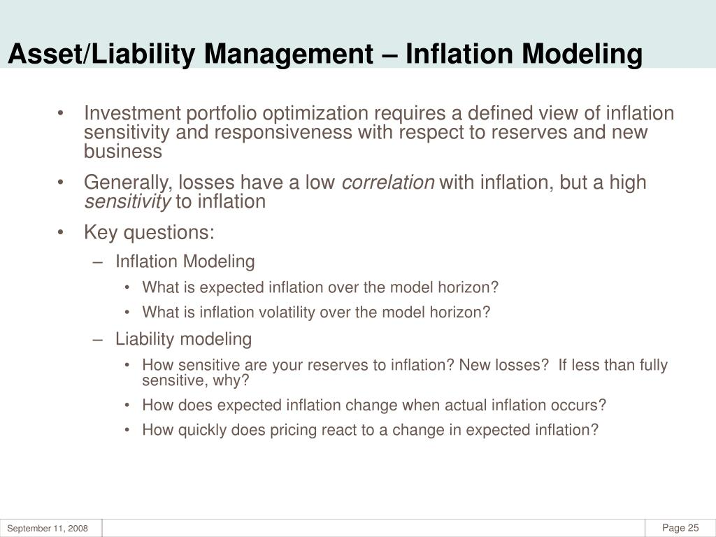 Asset/Liability Management – Inflation Modeling