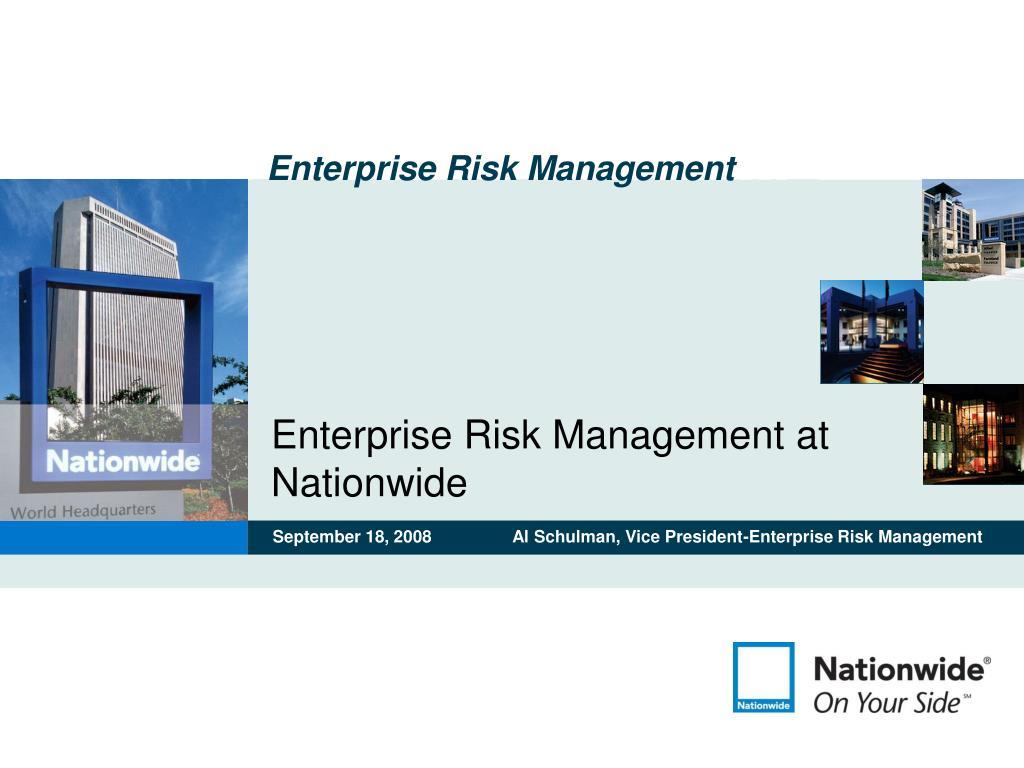 enterprise risk management at nationwide