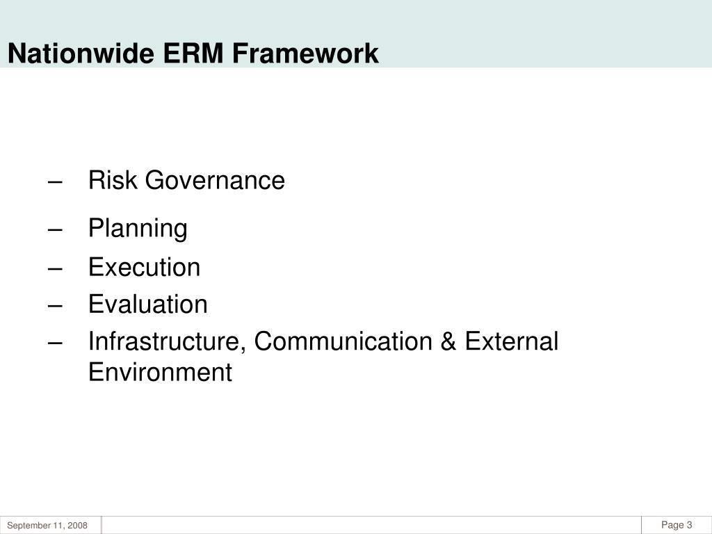 Nationwide ERM Framework