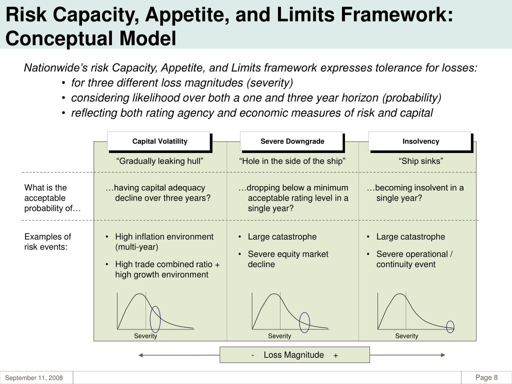 Risk Capacity, Appetite, and Limits Framework: Conceptual Model