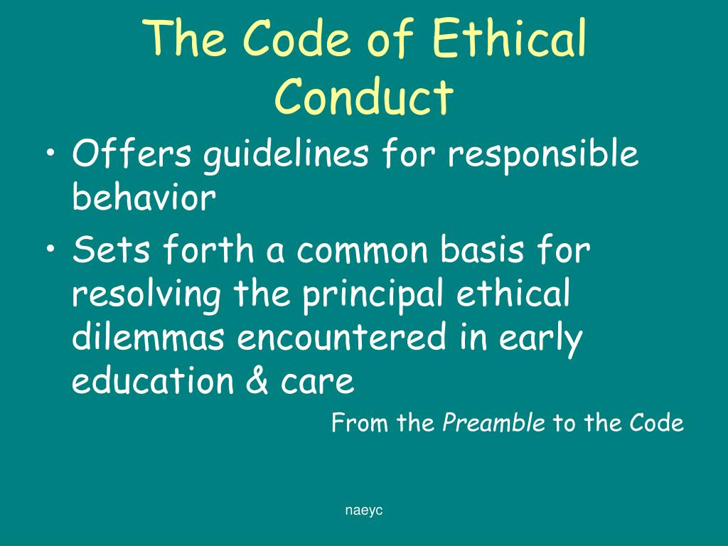ethical code of conduct for a This code of ethics serves acrp members and academy certificants, or any clinical research professional holding a certification from the academy.