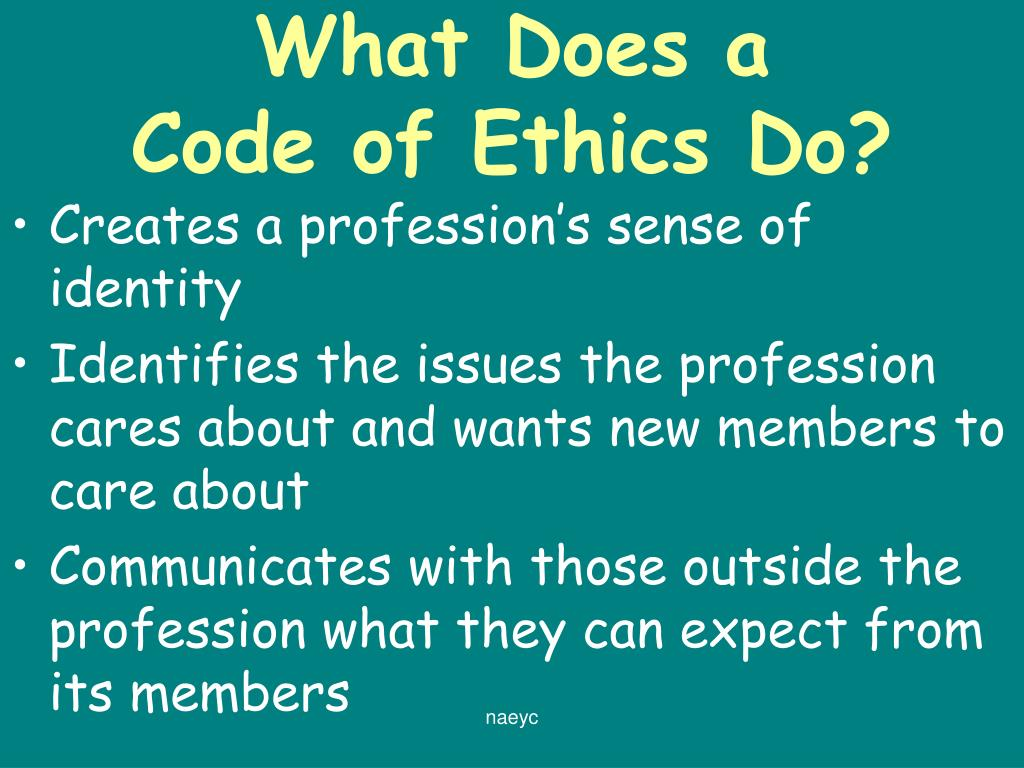 the naeyc code of ethical conduct essay Free essays on essay on naeyc code of ethical conduct for students use our papers to help you with yours 1 - 30.
