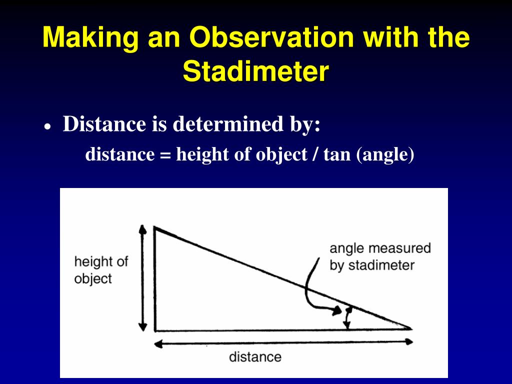 Making an Observation with the Stadimeter