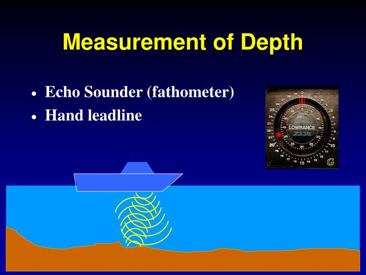 Measurement of depth