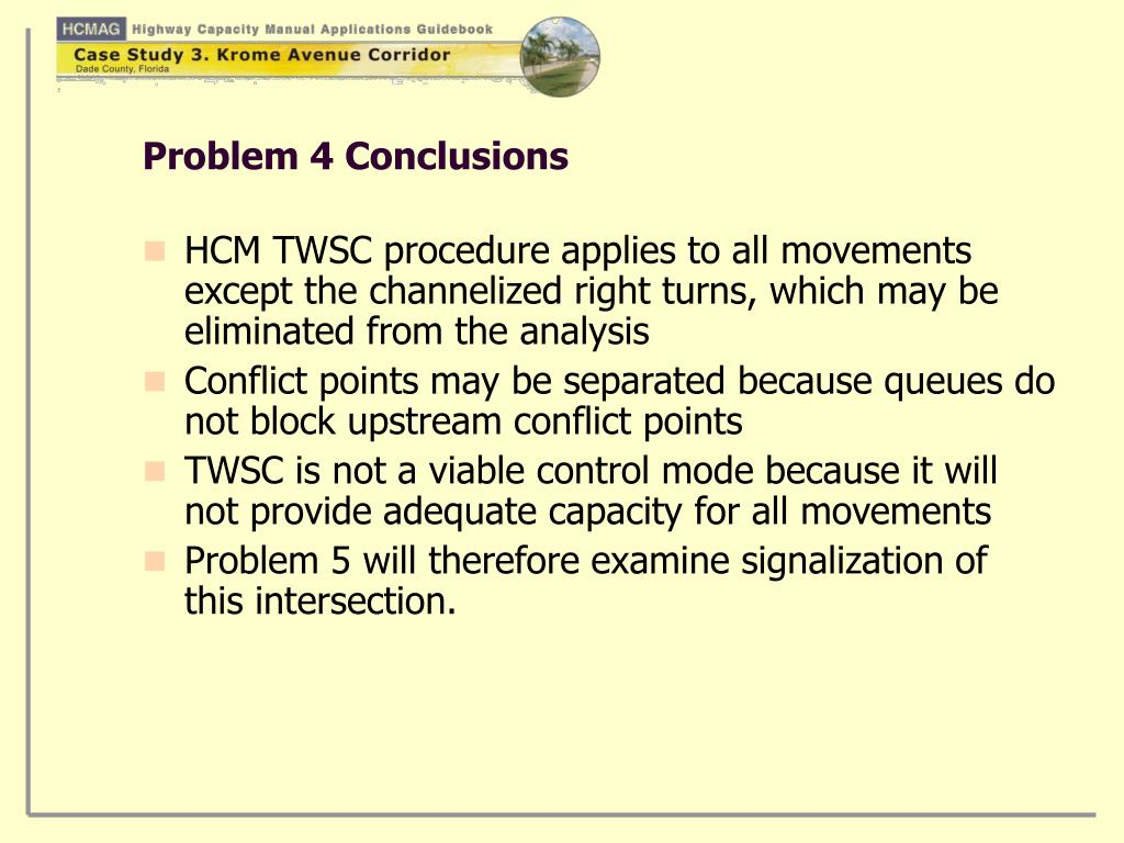Problem 4 Conclusions