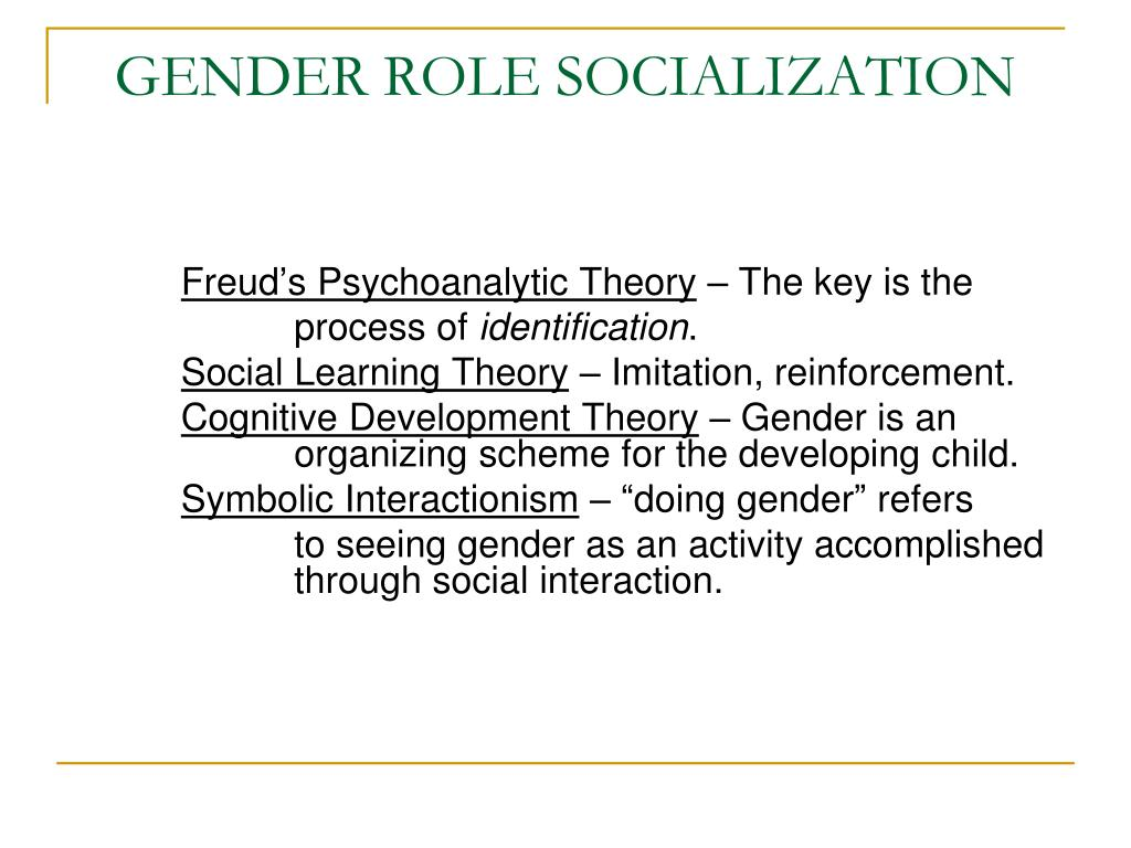 gender role socialization.essay