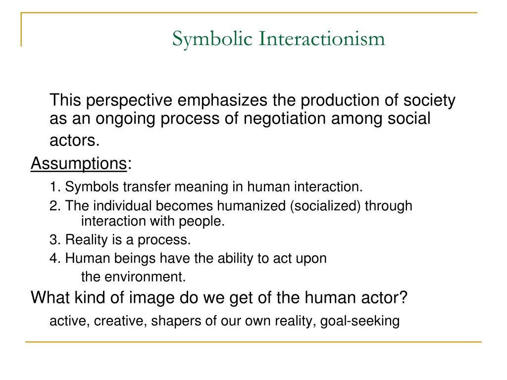 symbolic interactionism theory on poverty Get information, facts, and pictures about symbolic interactionism at encyclopediacom make research projects and school reports about symbolic interactionism easy.