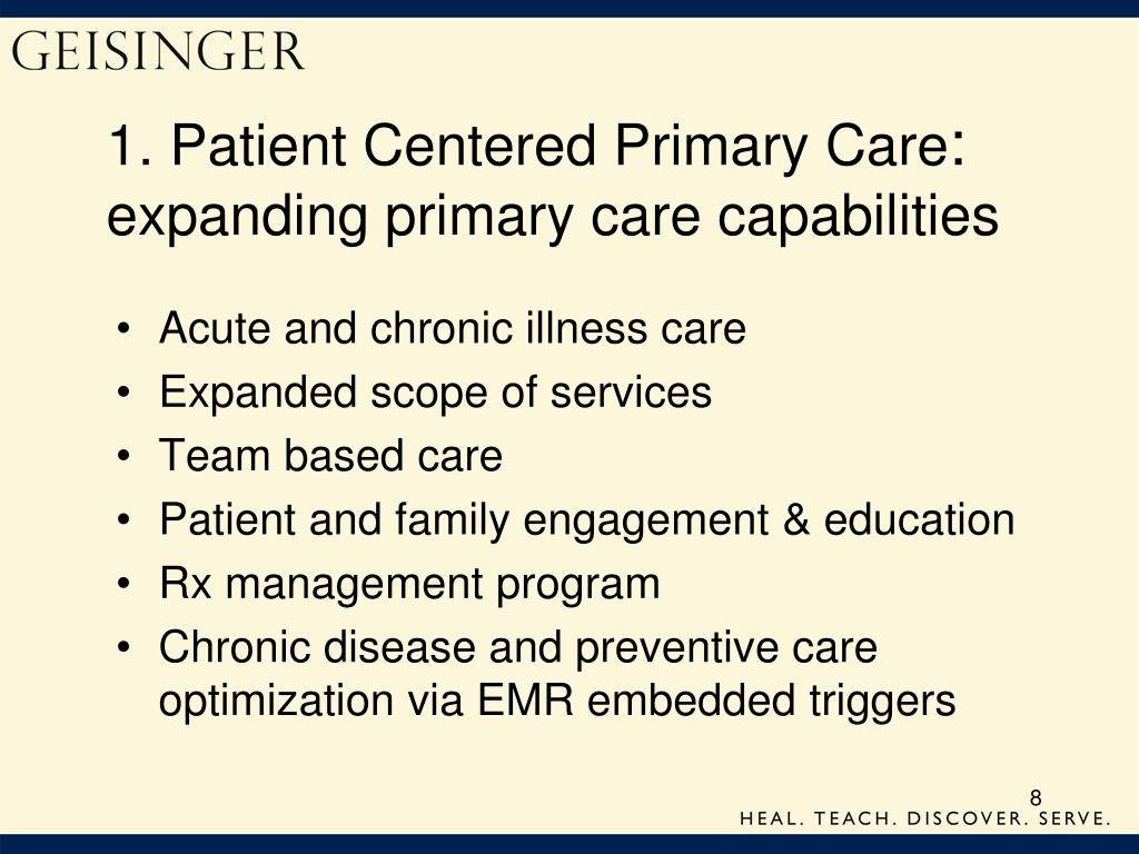1. Patient Centered Primary Care