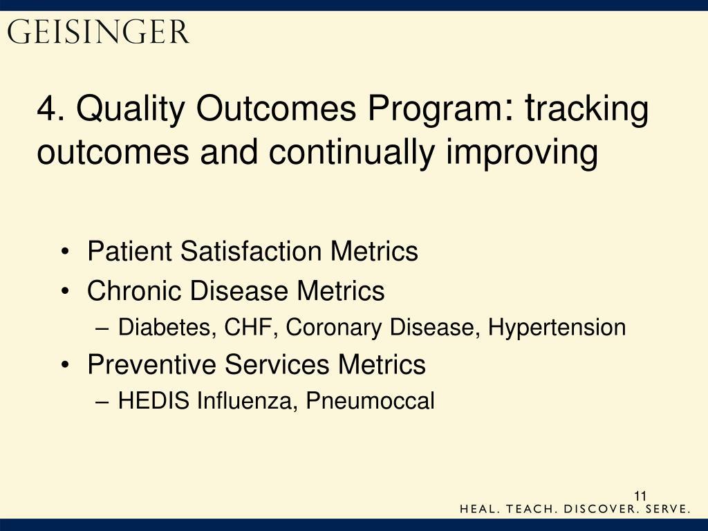 4. Quality Outcomes Program
