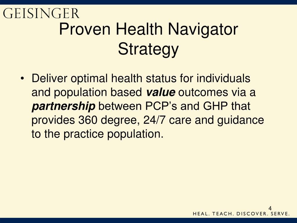 Proven Health Navigator