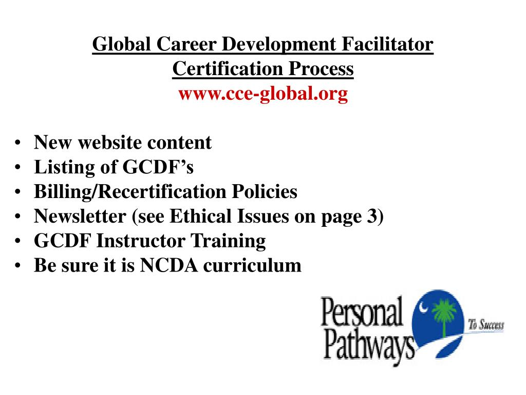 Global Career Development Facilitator