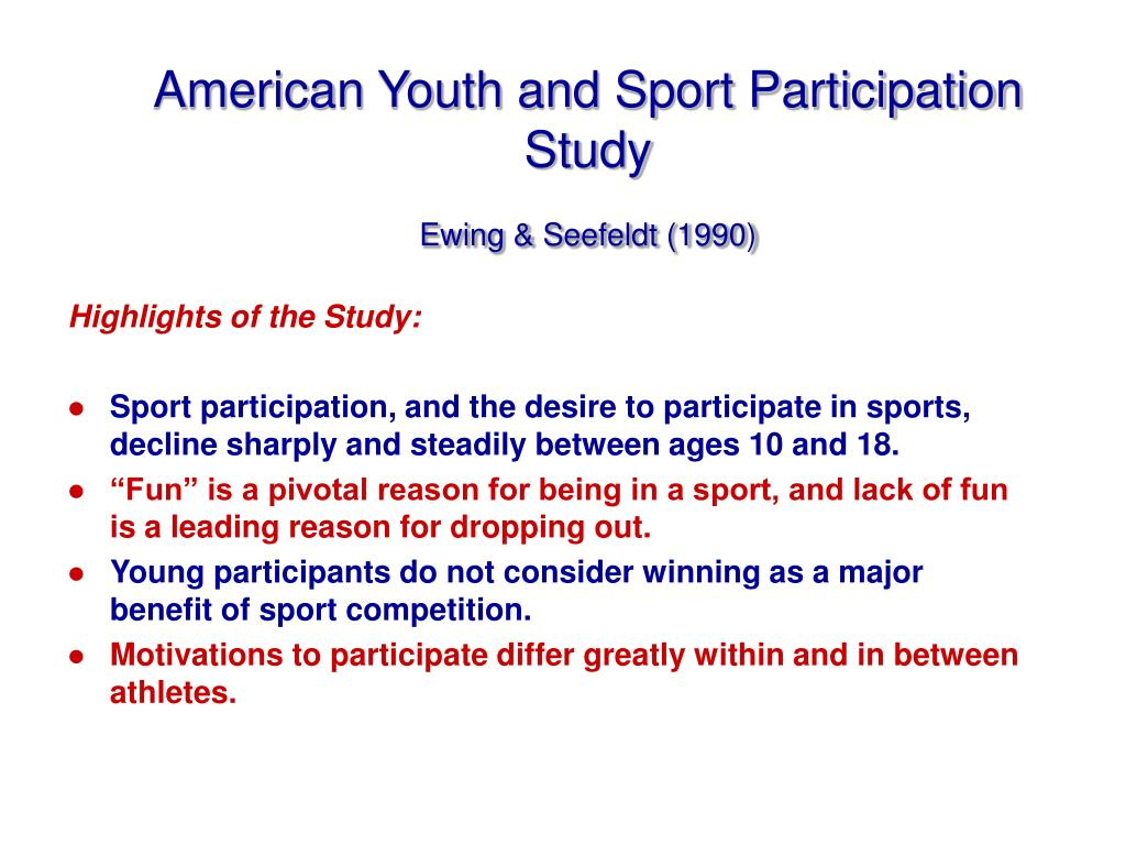 American Youth and Sport Participation Study