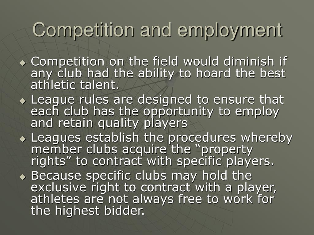 Competition and employment
