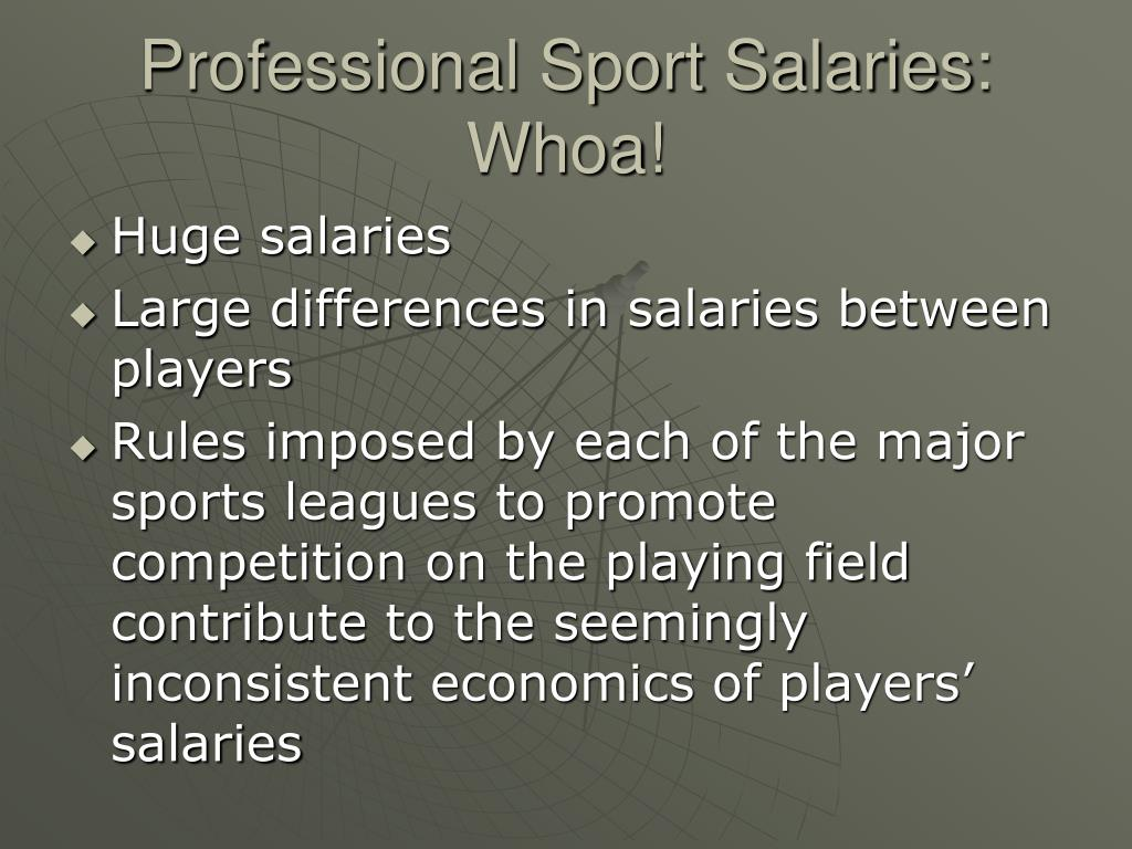 Professional Sport Salaries: Whoa!