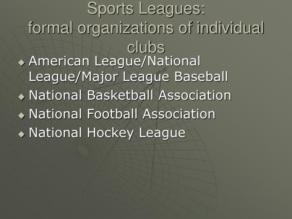 Sports Leagues: