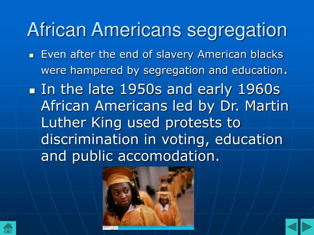 African Americans segregation