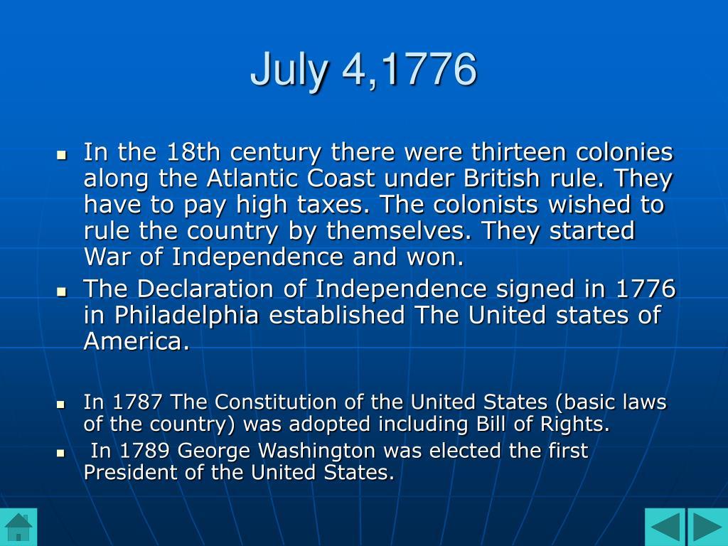 July 4,1776
