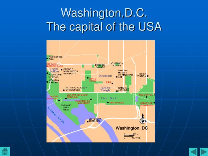 Washington d c the capital of the usa