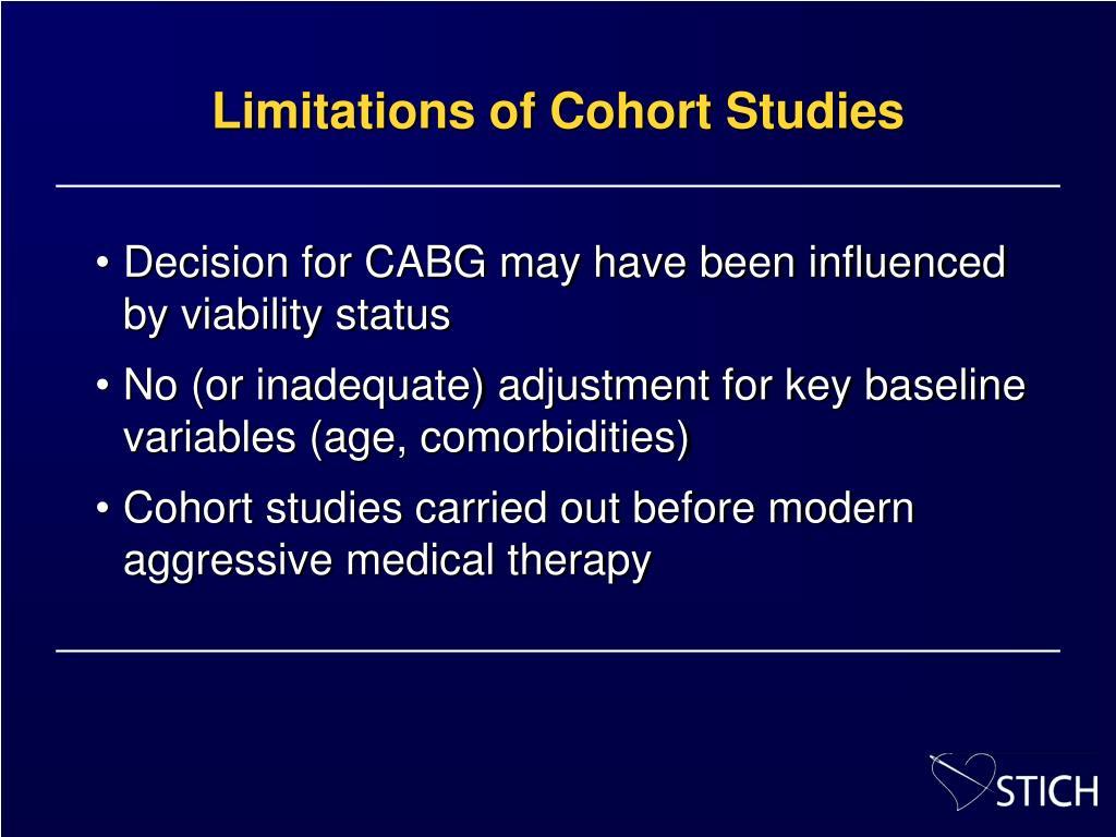 Limitations of Cohort Studies