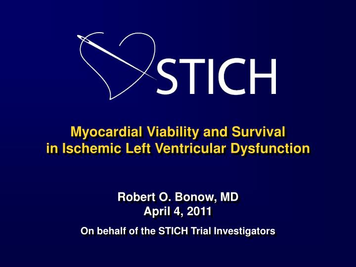 Myocardial Viability and Survival