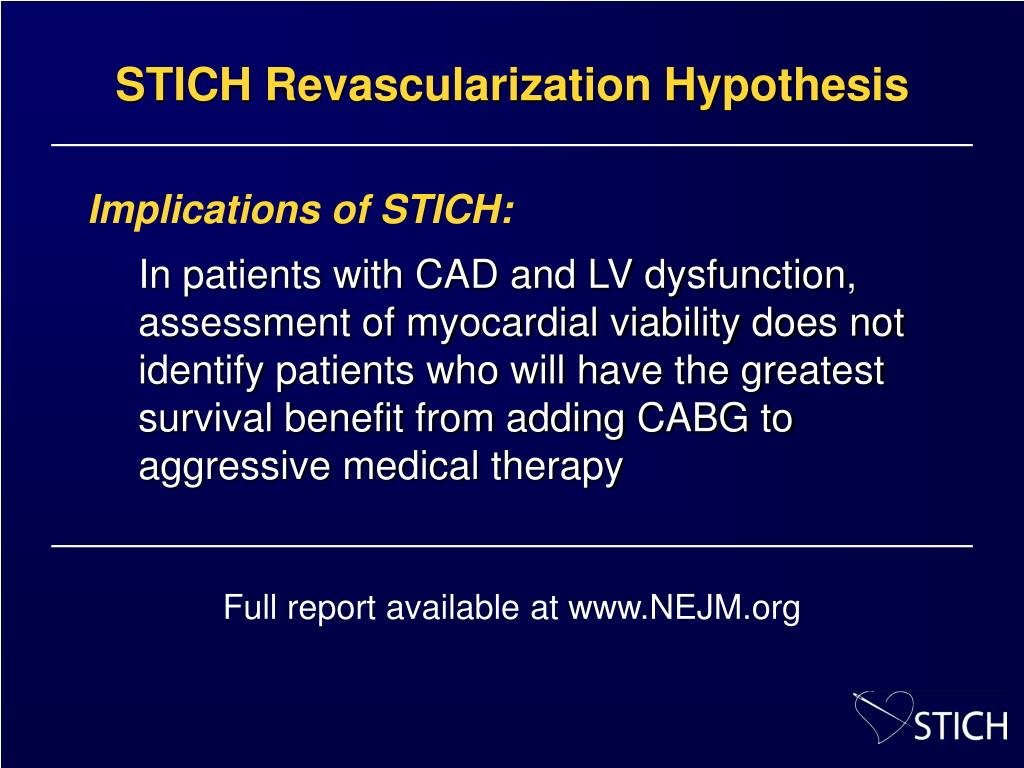STICH Revascularization Hypothesis