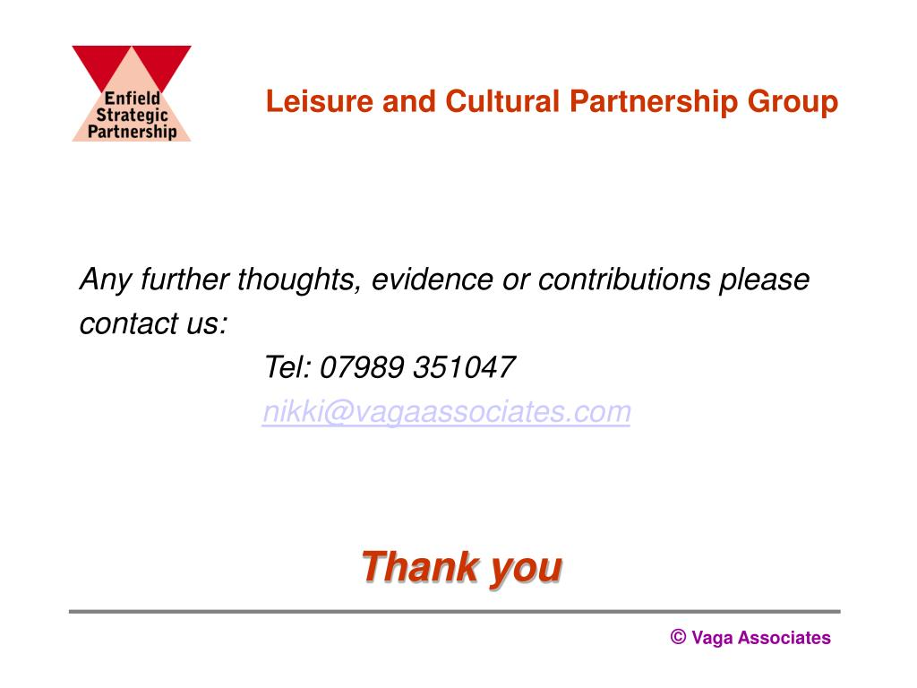 Leisure and Cultural Partnership Group