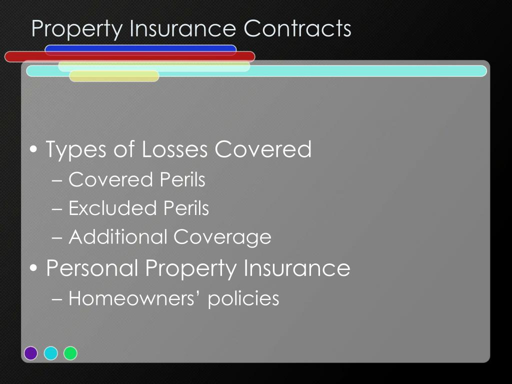 Property Insurance Contracts