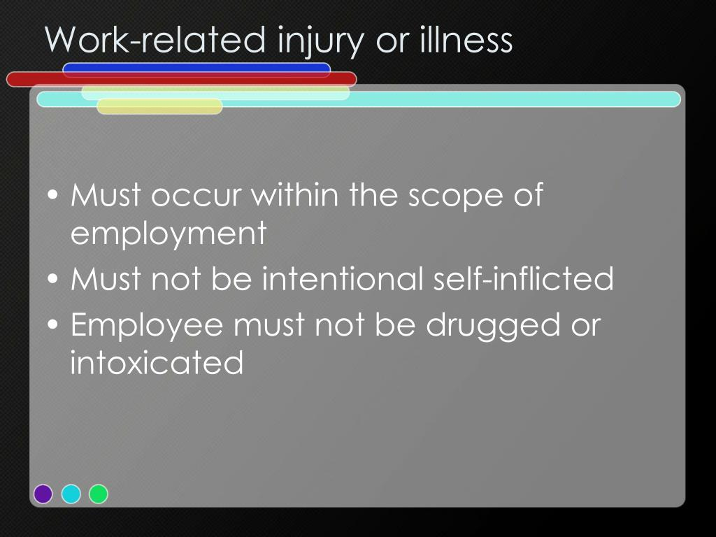 Work-related injury or illness