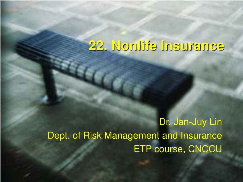 22. Nonlife Insurance