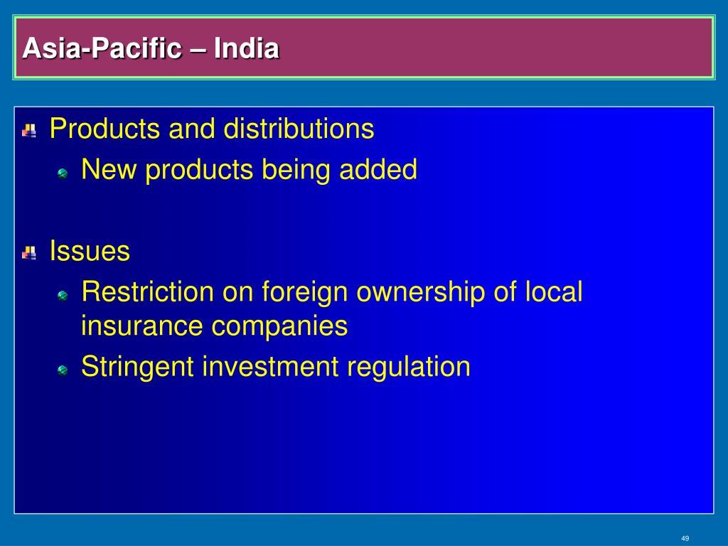 Asia-Pacific – India
