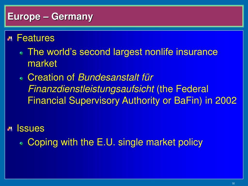 Europe – Germany