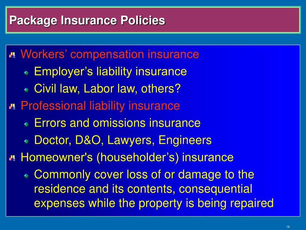 Package Insurance Policies