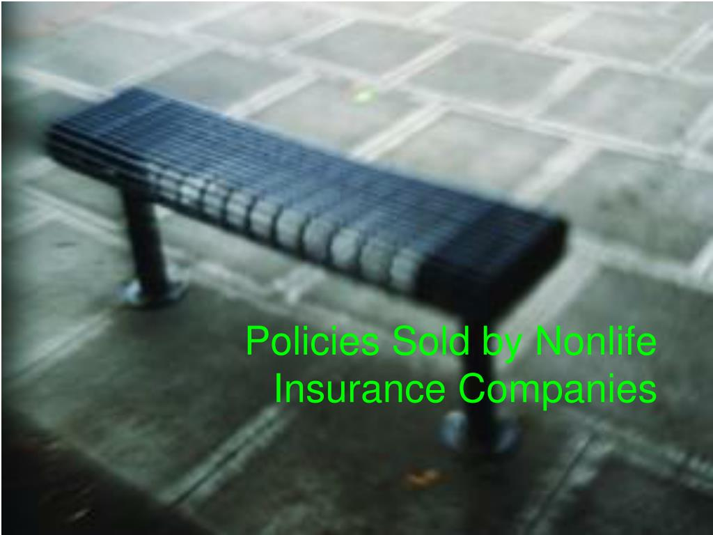 Policies Sold by Nonlife Insurance Companies