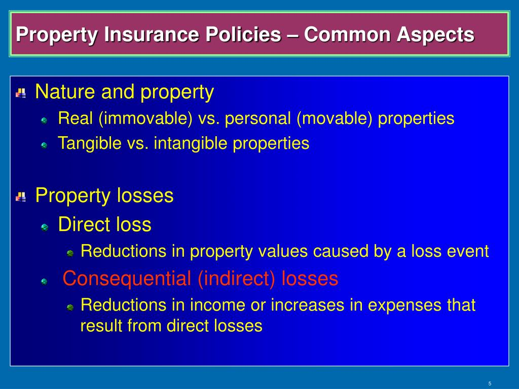 Property Insurance Policies – Common Aspects