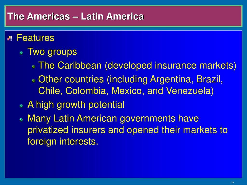 The Americas – Latin America