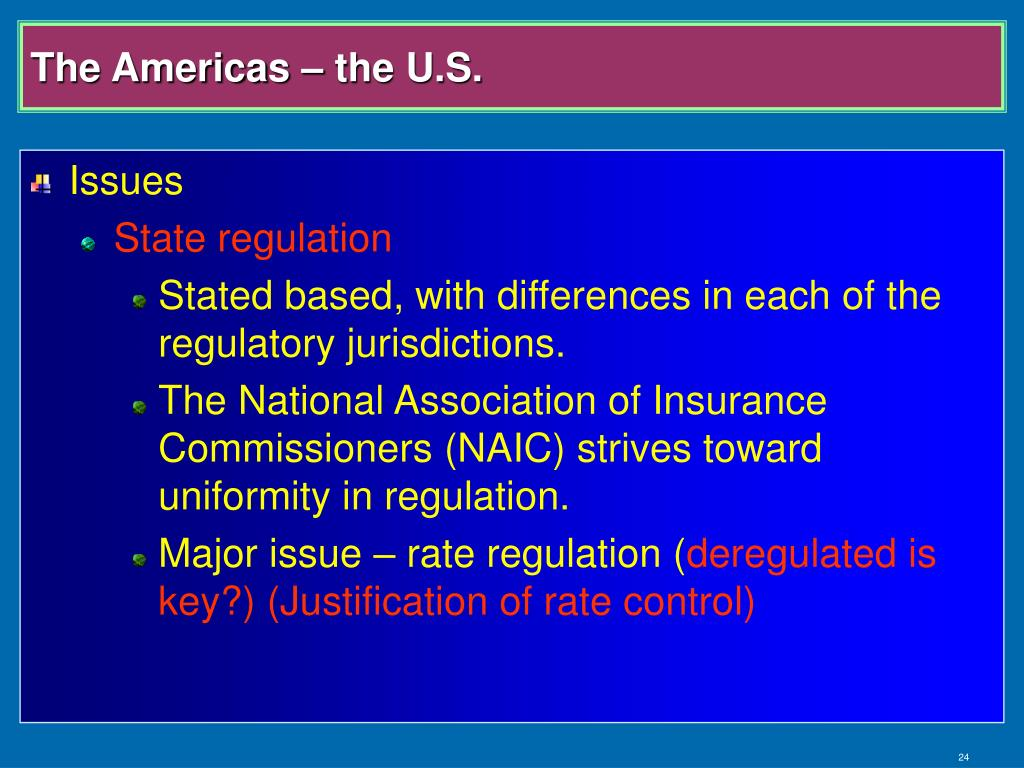 The Americas – the U.S.