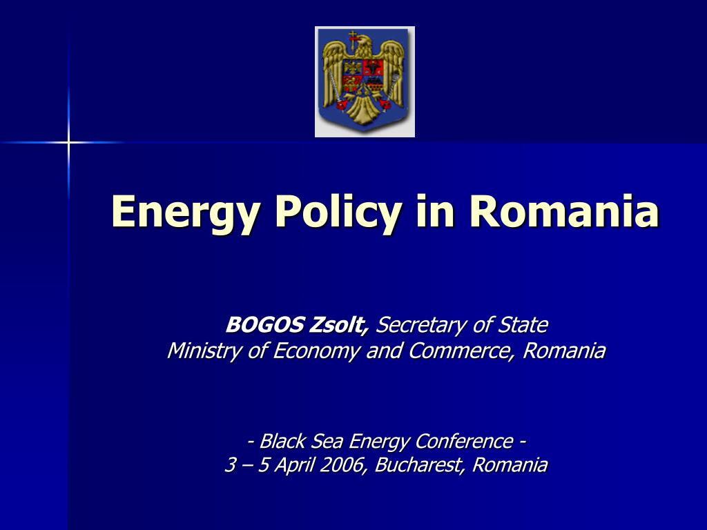 Energy Policy in Romania