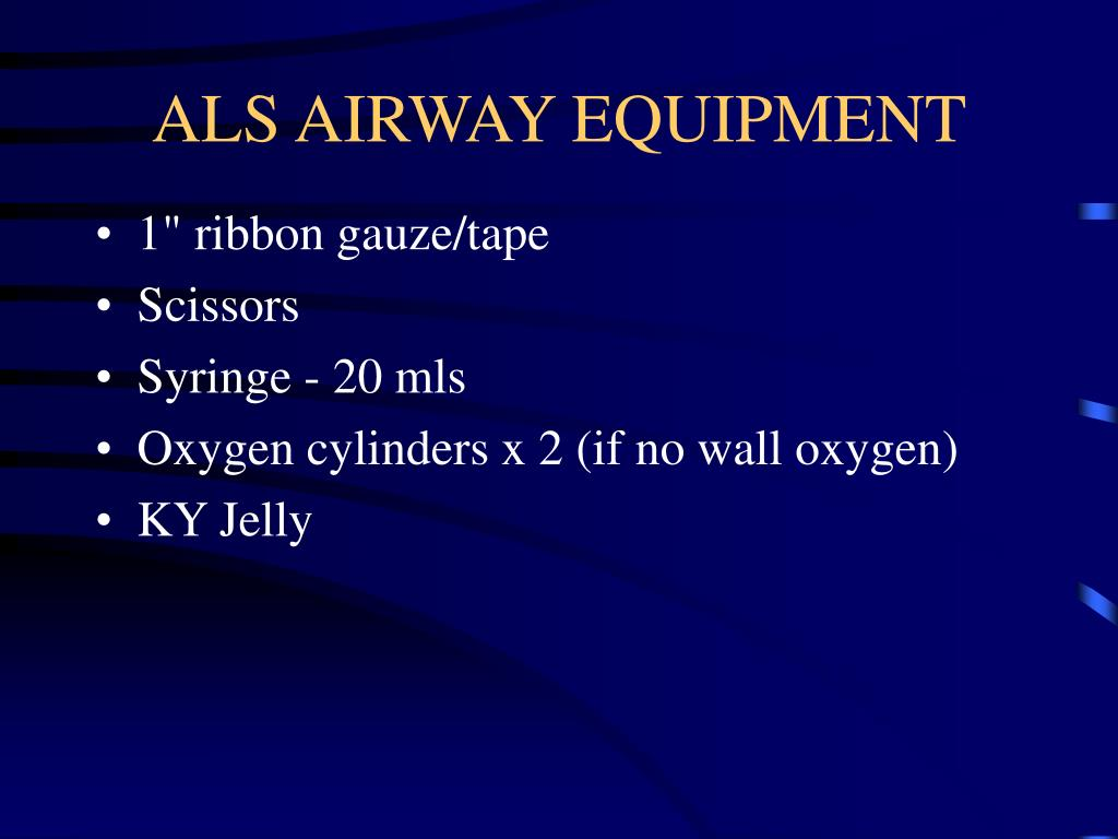 ALS AIRWAY EQUIPMENT