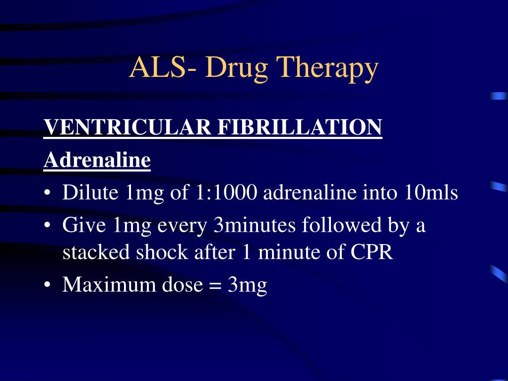 ALS- Drug Therapy