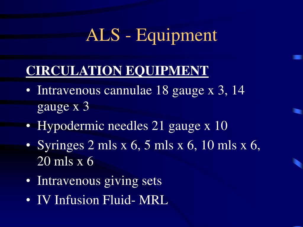 ALS - Equipment