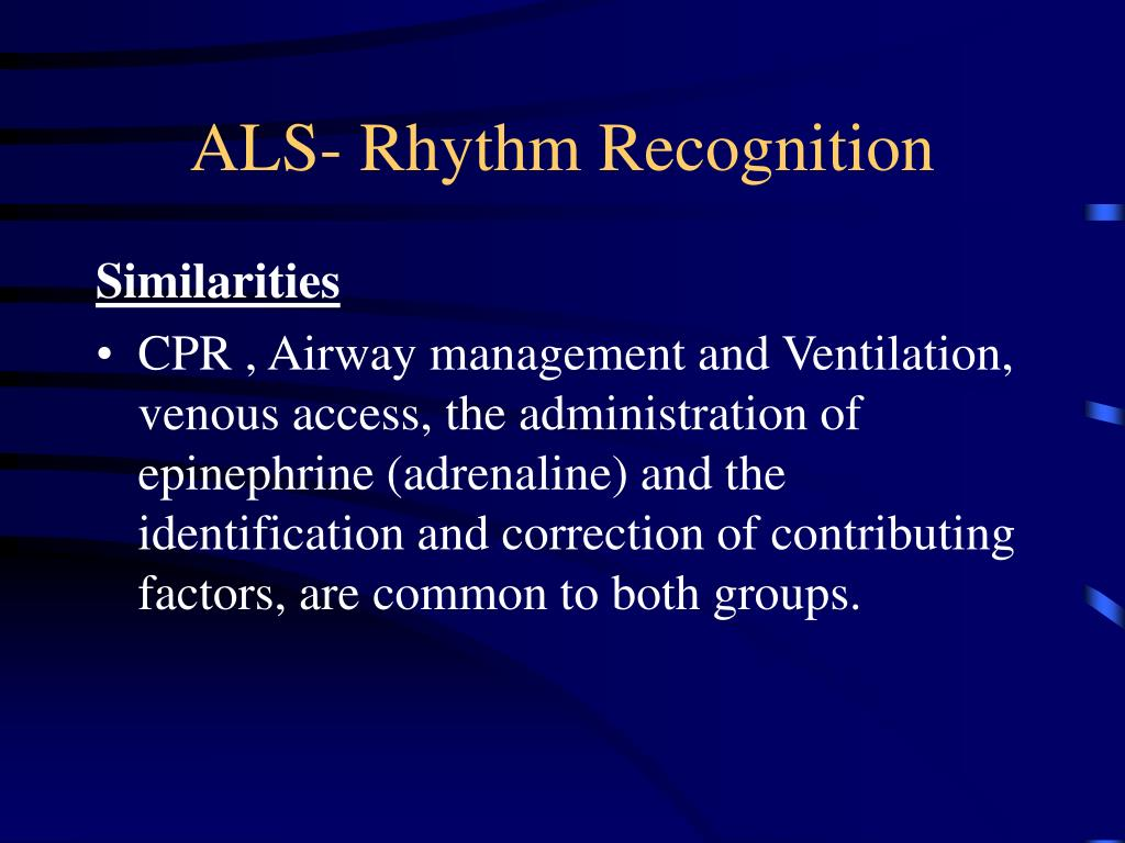 ALS- Rhythm Recognition