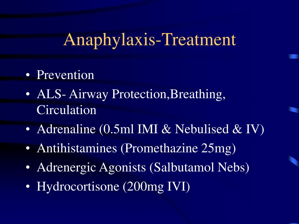 Anaphylaxis-Treatment